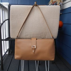 Ann Taylor Chestnut Leather Shoulder Bag